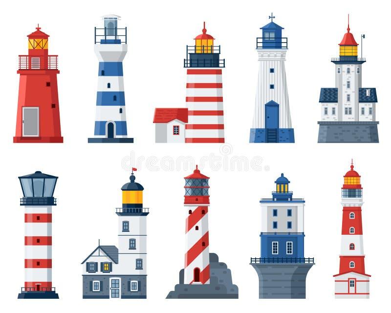 Fari e luci piani della guida del mare illustrazione for Piani del padiglione della piscina