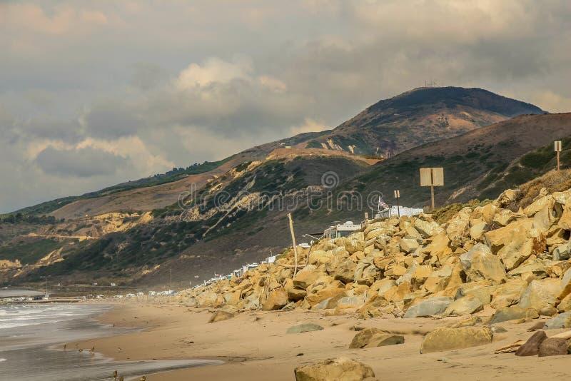Faria Beach National Park. stock photo