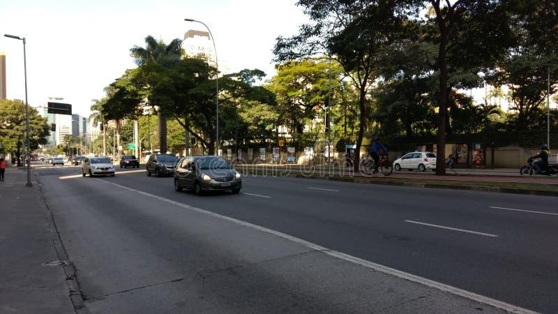 Faria Lima Avenue fotografia stock libera da diritti