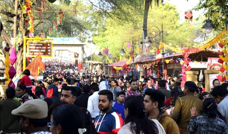 Faridabad, Surajkund, la India, febrero de 2019: 33 artes internacionales Mela de Surajkund imagenes de archivo