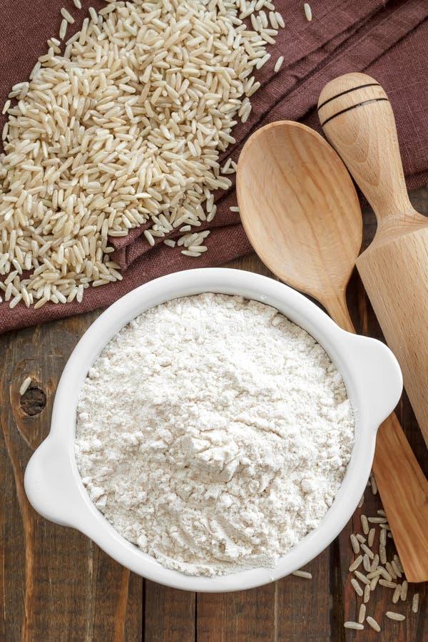 Farine de riz image stock
