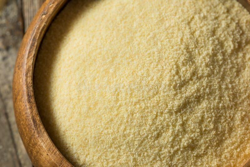 Farine organique s?che de bl? dur de semoule photographie stock libre de droits