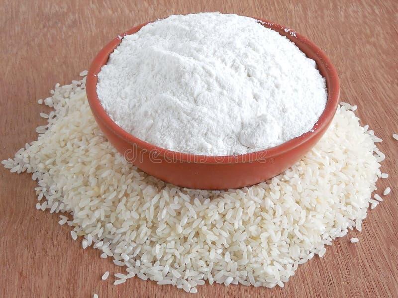 Farinha de arroz fotografia de stock royalty free