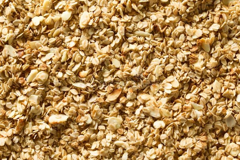 Farinha de aveia crocante caseiro, amêndoa e Honey Granola foto de stock