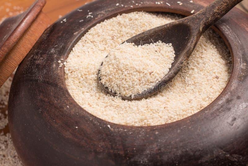 Farinha De Mandioca maniok Kasawy mąka Farofa fotografia stock