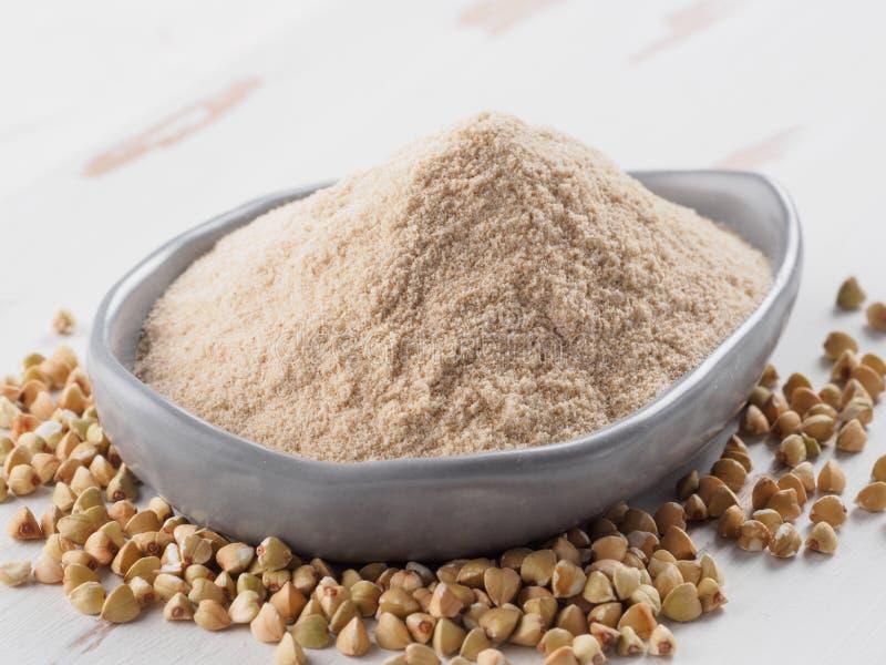 Farinha do trigo mourisco imagens de stock