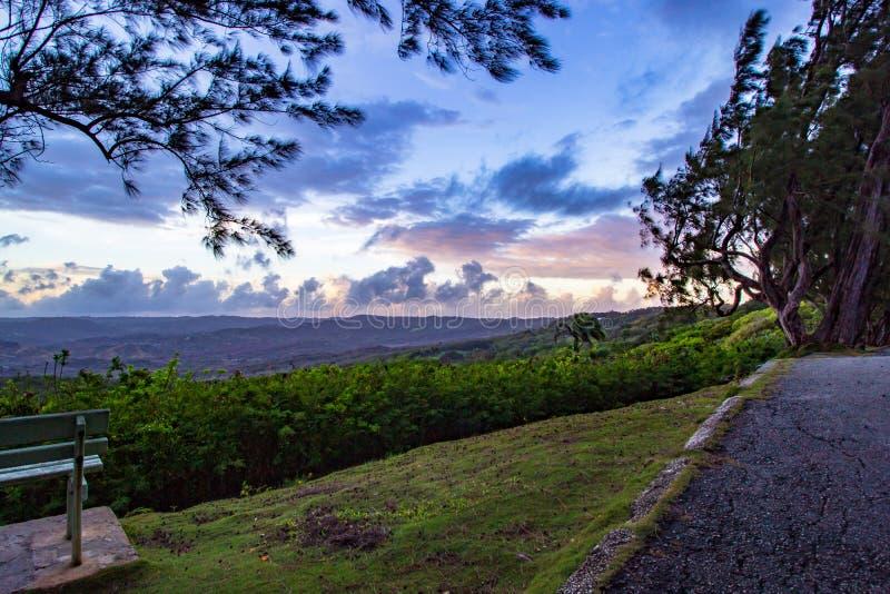 Farley Hill National Park est situé dans le saint Peter Parish photo stock