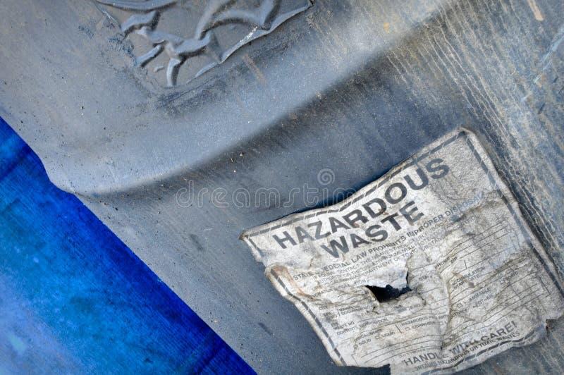 farlig avfalls arkivbild