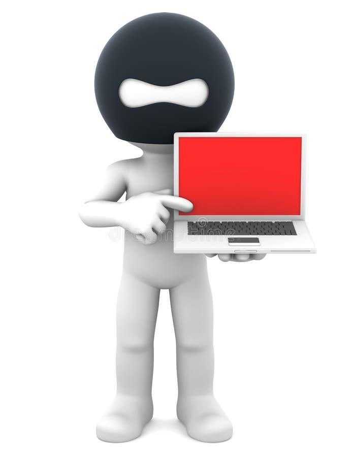 farlig hackerbärbar dator stock illustrationer