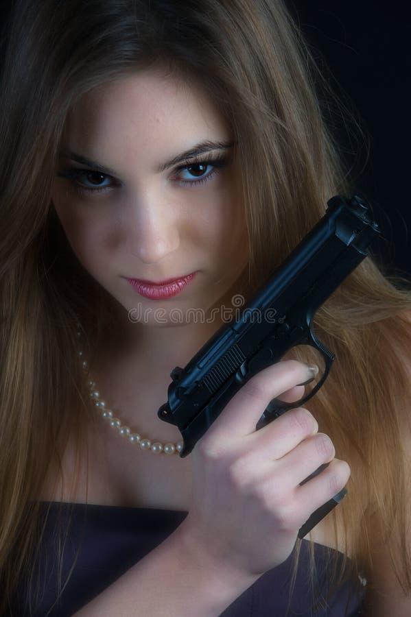 farlig kvinna royaltyfri bild