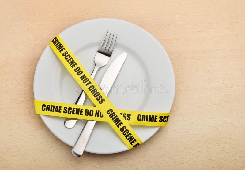 Farlig mat royaltyfria bilder