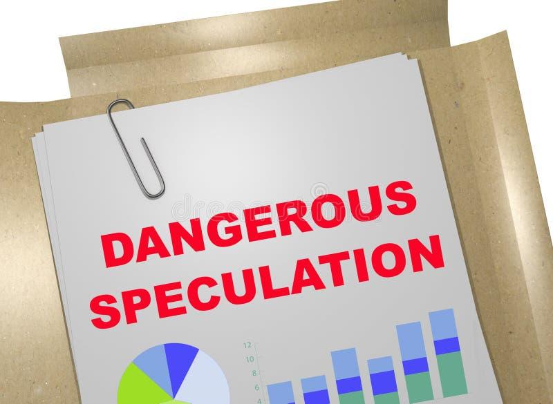 Farlig spekulation - affärsidé stock illustrationer