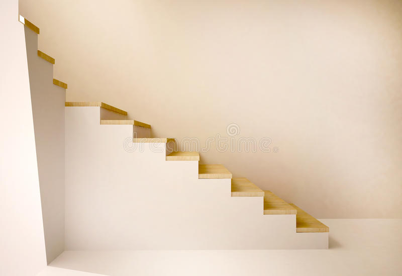 Farlig trappuppgång royaltyfri illustrationer