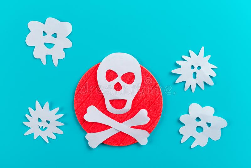 farlig virusbegreppsbild royaltyfria bilder