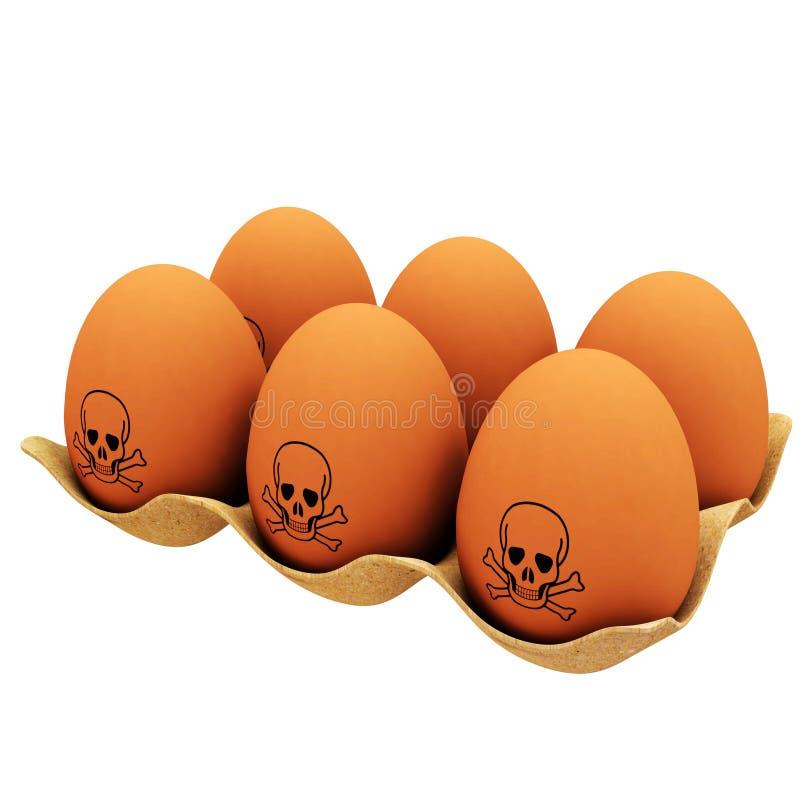 Farliga ägg stock illustrationer