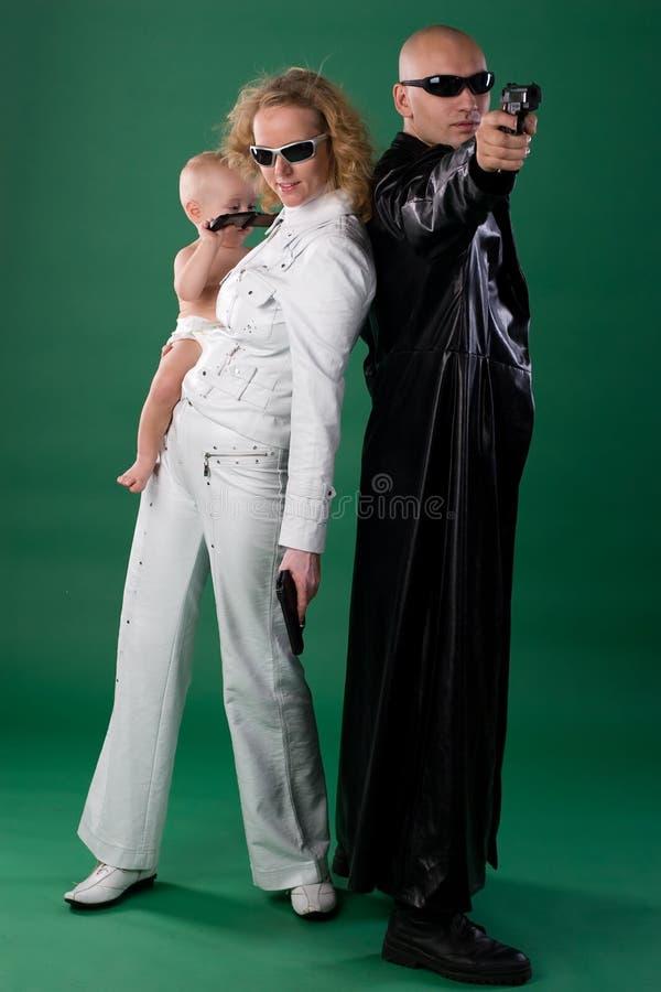farliga föräldrar arkivfoto