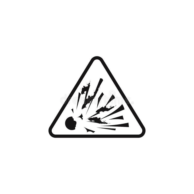 farligt explosiv teckensymbol Riskmomentet undertecknar symbolen Högvärdig kvalitets- symbol för grafisk design Tecken och symbol stock illustrationer