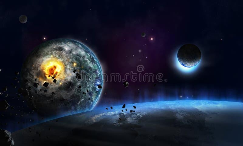 Farligt universum stock illustrationer