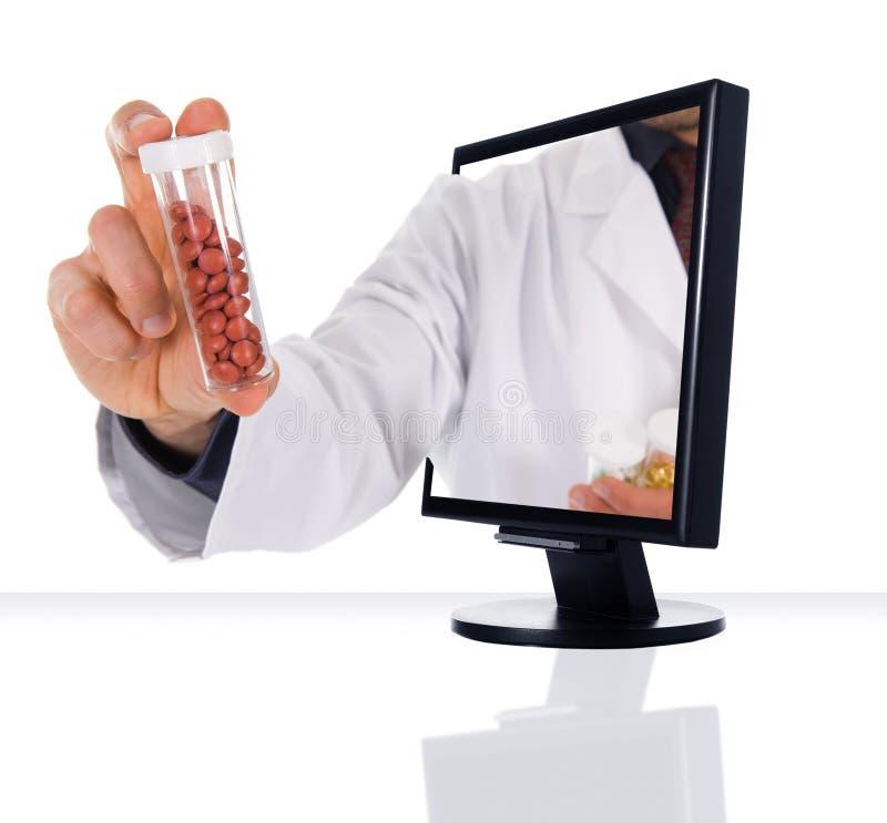 Farmácia do Internet imagens de stock royalty free