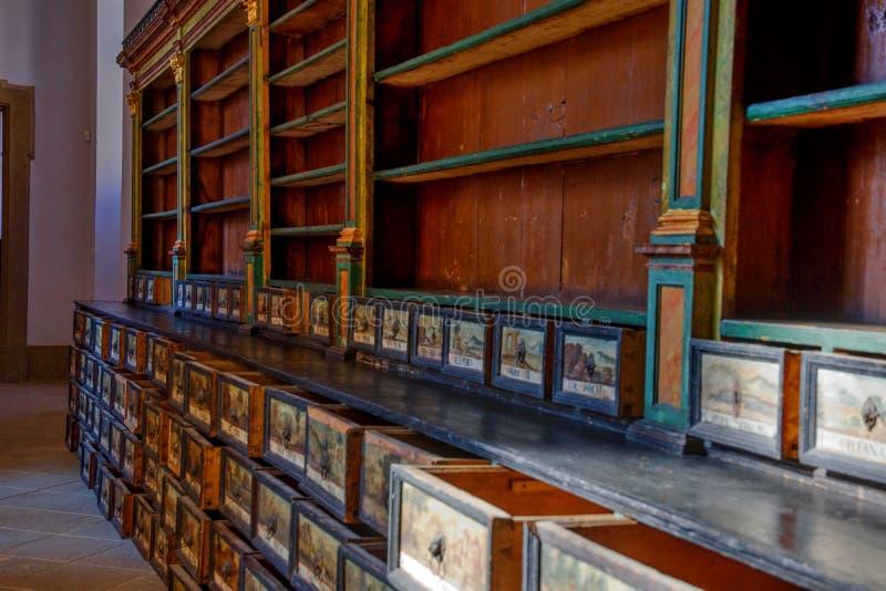 Farmácia no claustro Plasy fotografia de stock royalty free