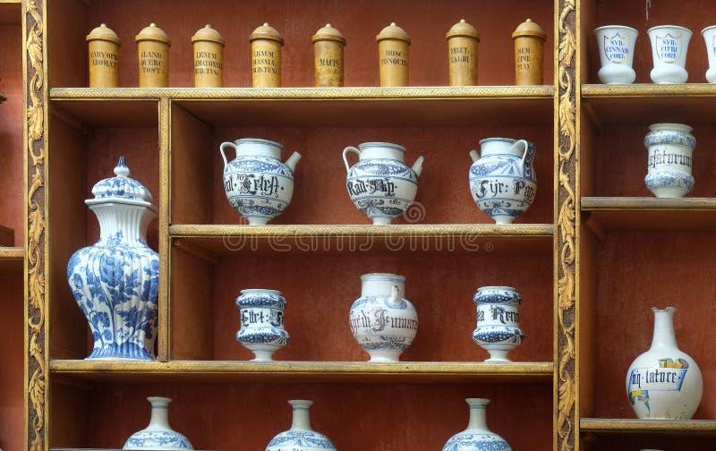 Farmácia no monastério Franciscan em Dubrovnik foto de stock royalty free