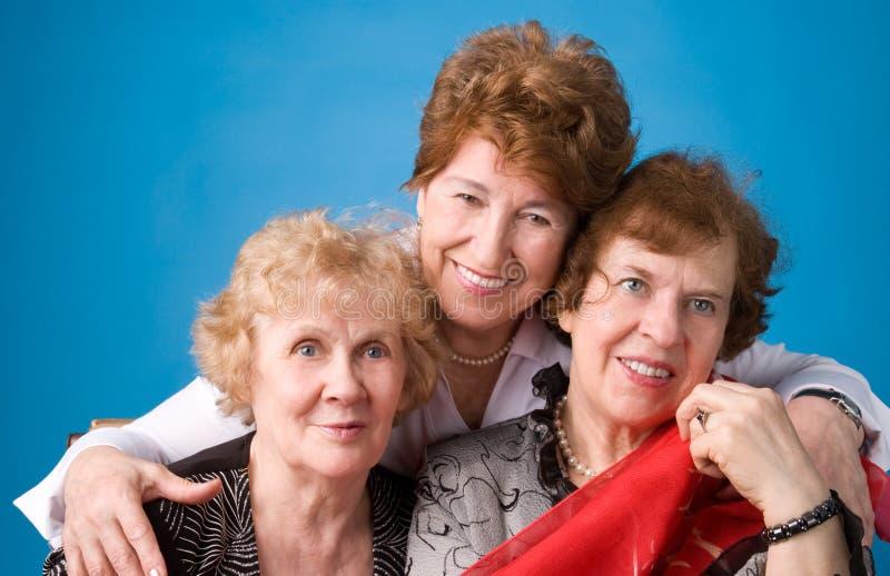 farmödrar tre royaltyfria foton