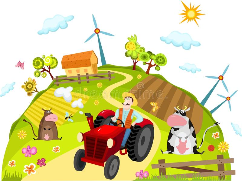 Farm stock illustration