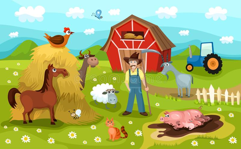 Farm royalty free illustration