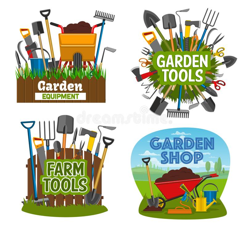 Free Farm And Gardening Tools, Garden Shop Equipment Royalty Free Stock Photography - 133471577