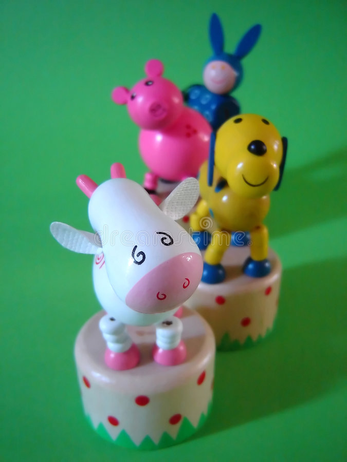 Download Farm animal toys stock image. Image of wooden, toys, green - 1923493