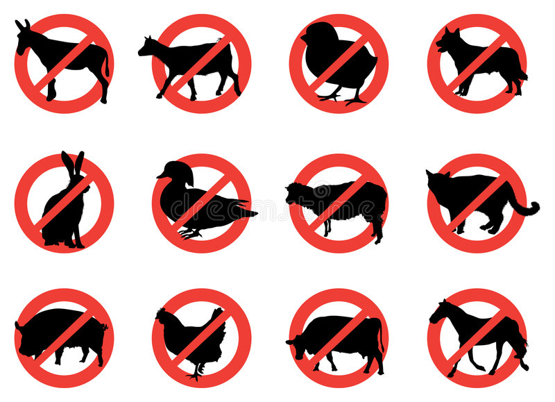 Download Farm animal warning signs stock vector. Illustration of stop - 9041147