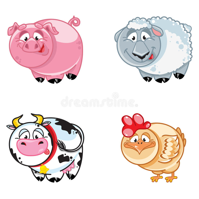 Download Farm animals stock vector. Illustration of wool, chicken - 21870579