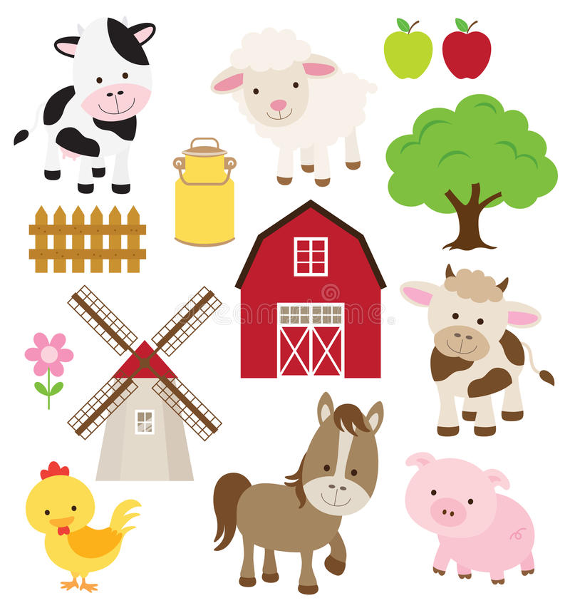 Download Farm Animals stock vector. Illustration of windmill, horse - 26660463