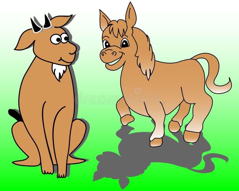 Farm animals stock illustration