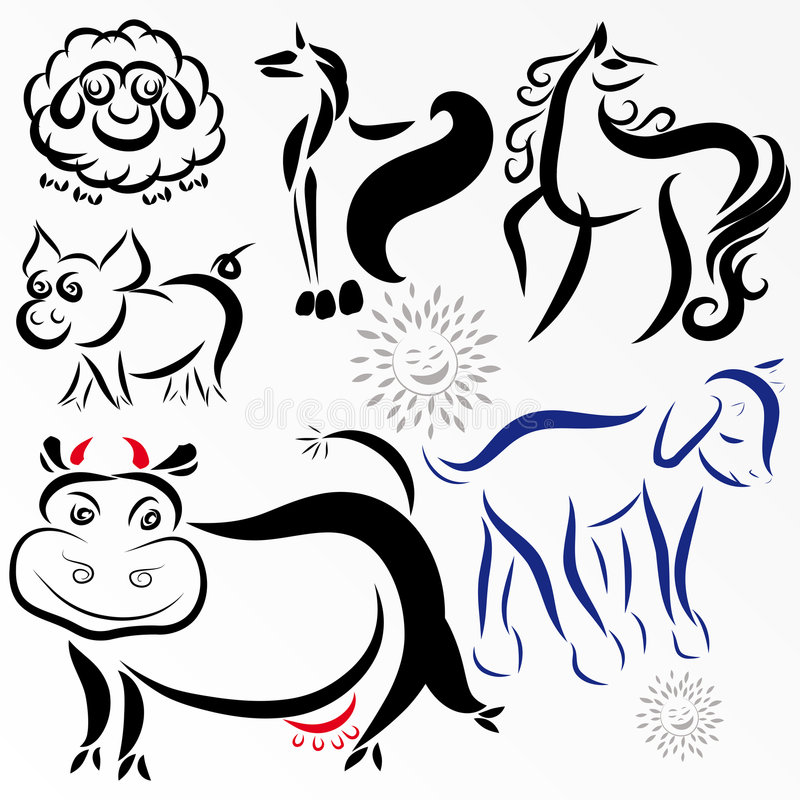 Download Farm animals stock vector. Image of image, design, pattern - 8436839