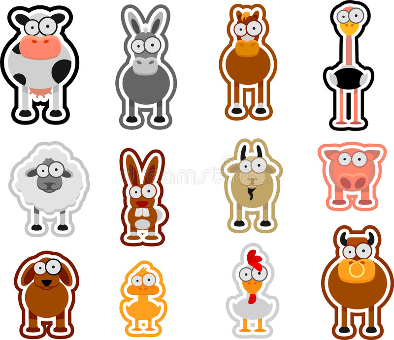 Download Farm animals stock vector. Illustration of color, chicken - 9362128