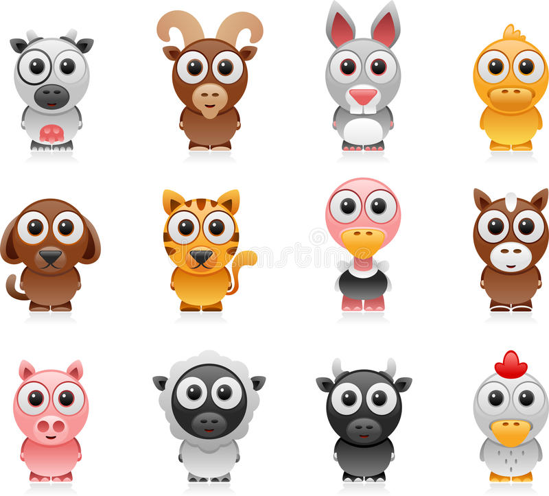 Download Farm animals cartoon set stock vector. Illustration of icon - 24071383