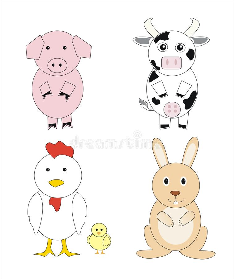Download Farm animals stock vector. Image of feeding, hooves, illustration - 33505708