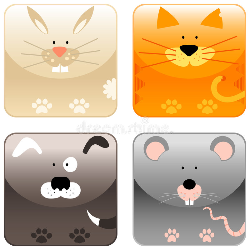 Download Farm animals - icon set 2 stock vector. Image of animals - 8523235