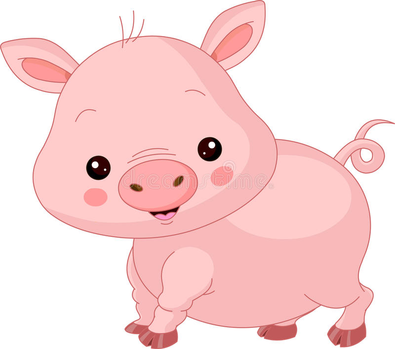Download Farm animals. Pig stock vector. Image of small, graphics - 39382653
