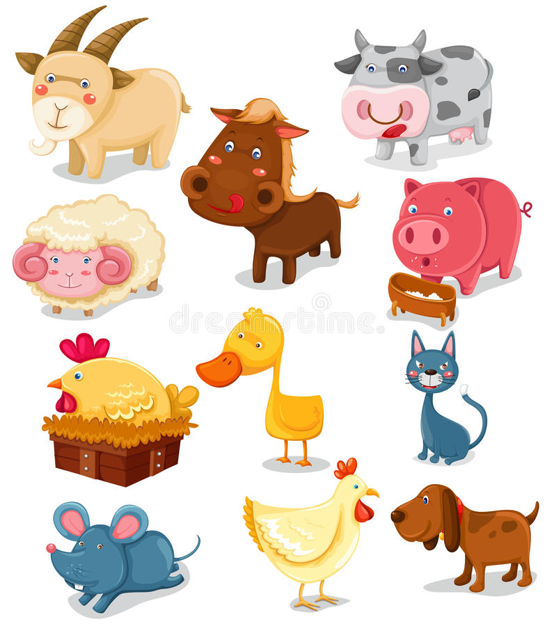 Free Farm Animals Set Royalty Free Stock Image - 14528286