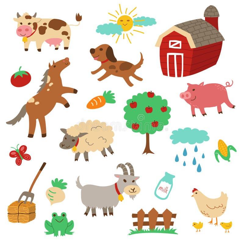 Free Farm Animals Set Stock Images - 44529554