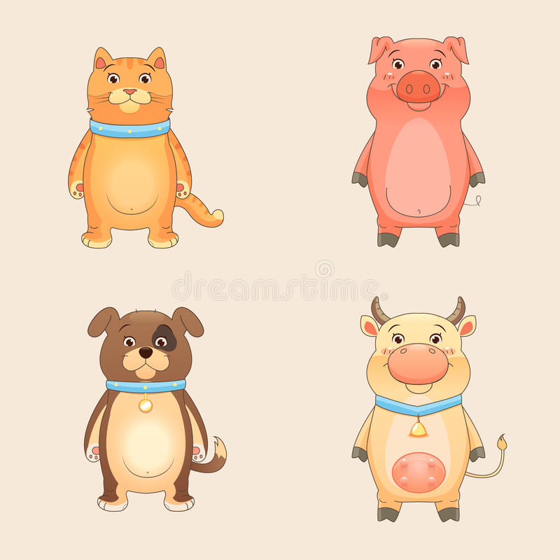 Download Farm Animals stock vector. Image of puppy, white, cute - 32988755