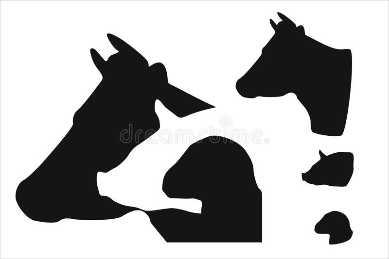 Download Farm animals stock vector. Image of wool, bovine, domestic - 31915364