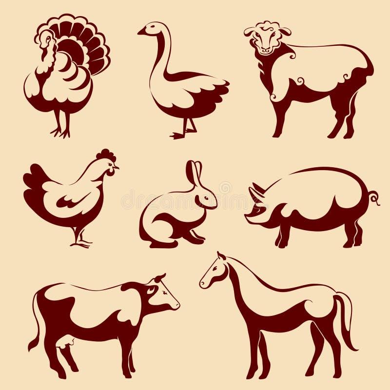 Download Farm animals stock vector. Image of emblem, rabbit, element - 32368728