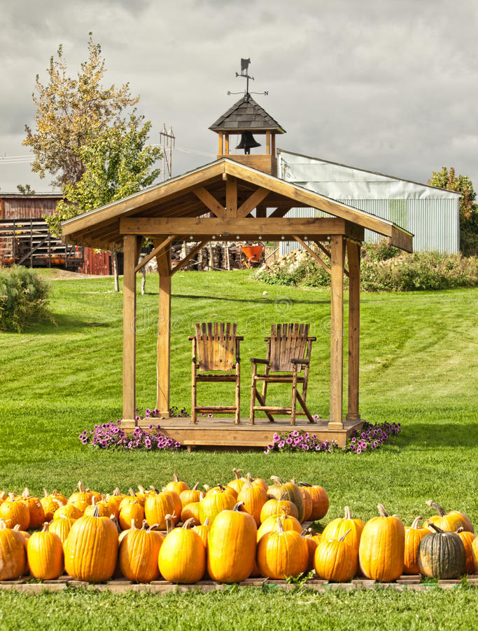 Download Farm in autumn stock photo. Image of chairs, fall, wood - 33924500