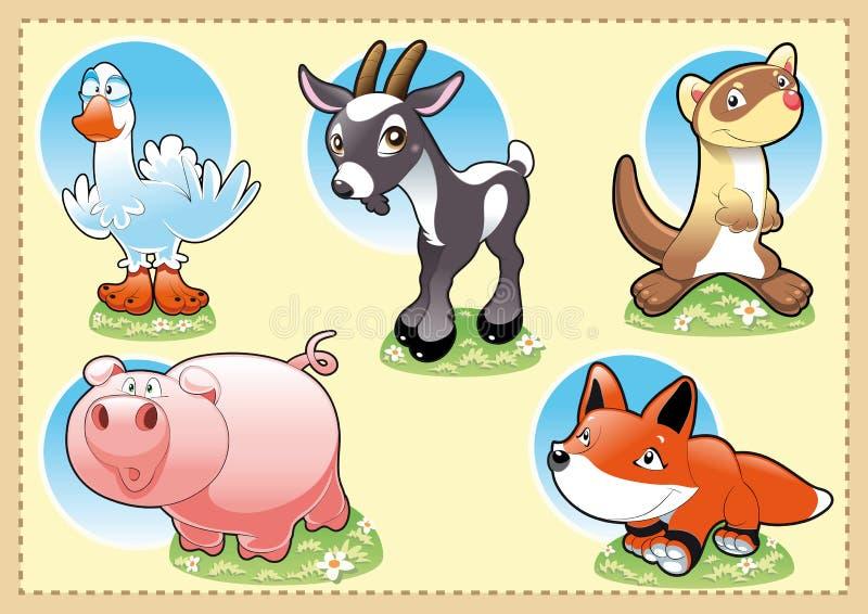 Farm Baby Animals stock image