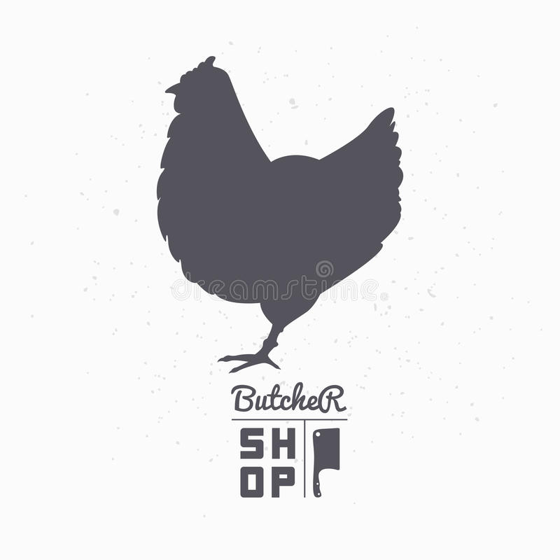 Free Farm Bird Silhouette. Chicken Meat. Butcher Shop Stock Image - 60783491