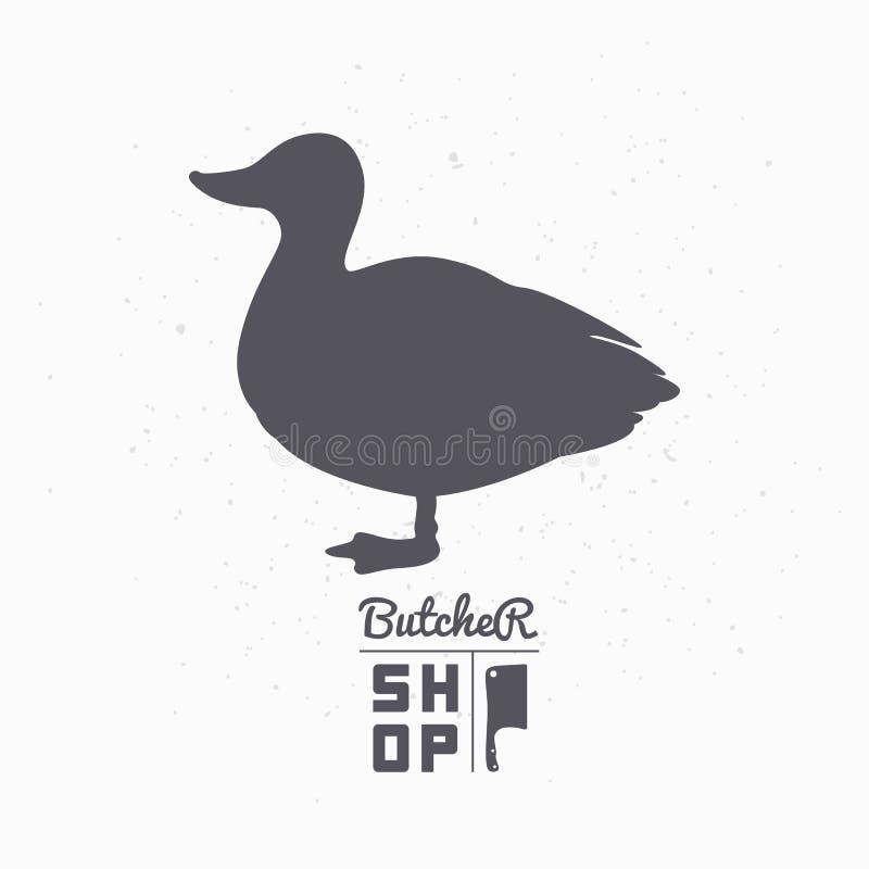 Free Farm Bird Silhouette. Duck Meat. Butcher Shop Stock Photography - 60783492
