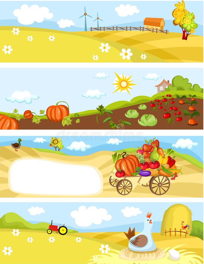 Farm cards royalty free illustration